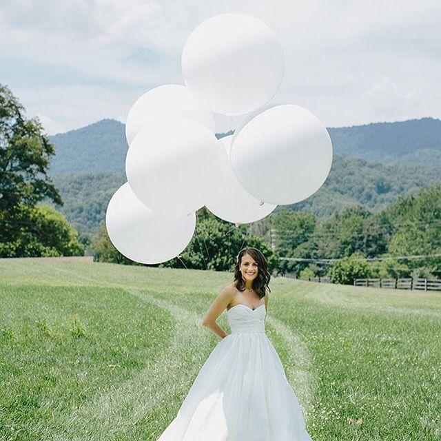Store ballonger til brudebilder