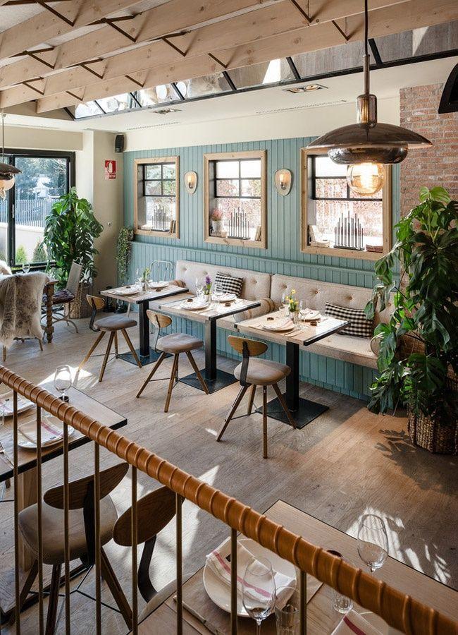 Guito's restaurant in Aravaca district in Madrid. Nordic cuisine& nordic design.: