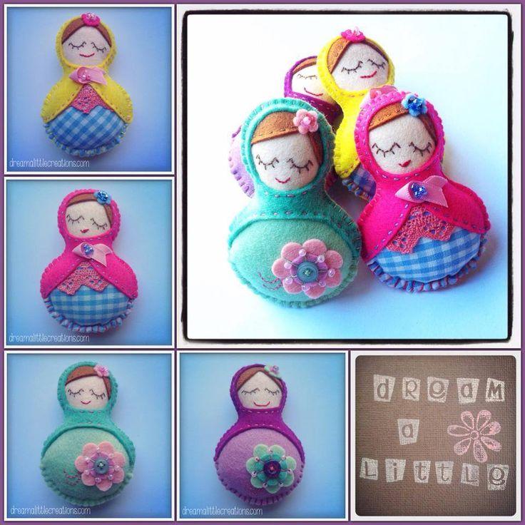 Handmade by dream a little. The cutiest little Russian dolls!!
