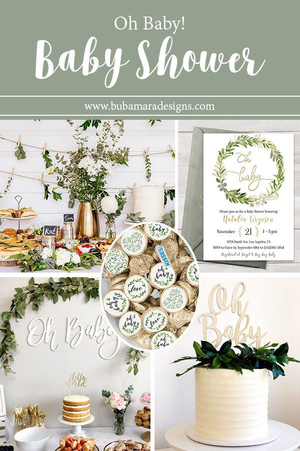 Editable Greenery Baby Shower Invitation Template Floral And Gold