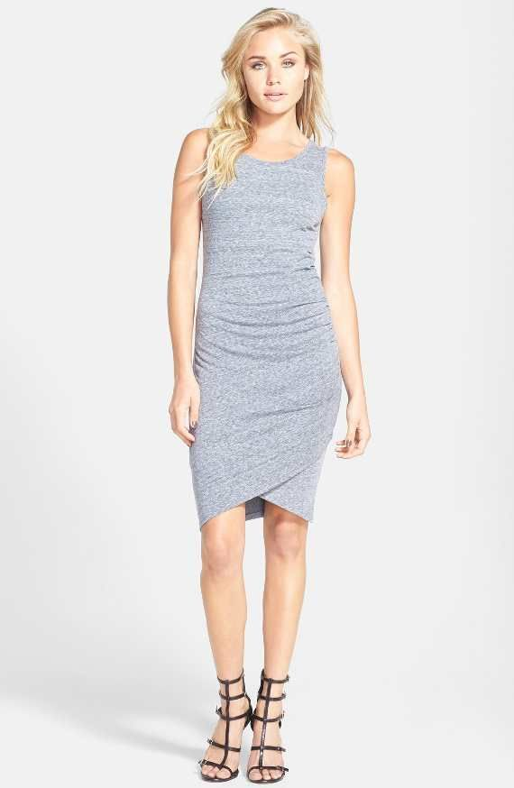 Ruched Body-Con Tank Dress
