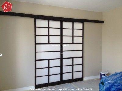 154 best images about cloison japonaise coulissante et porte on pinterest - Cloison transparente coulissante ...