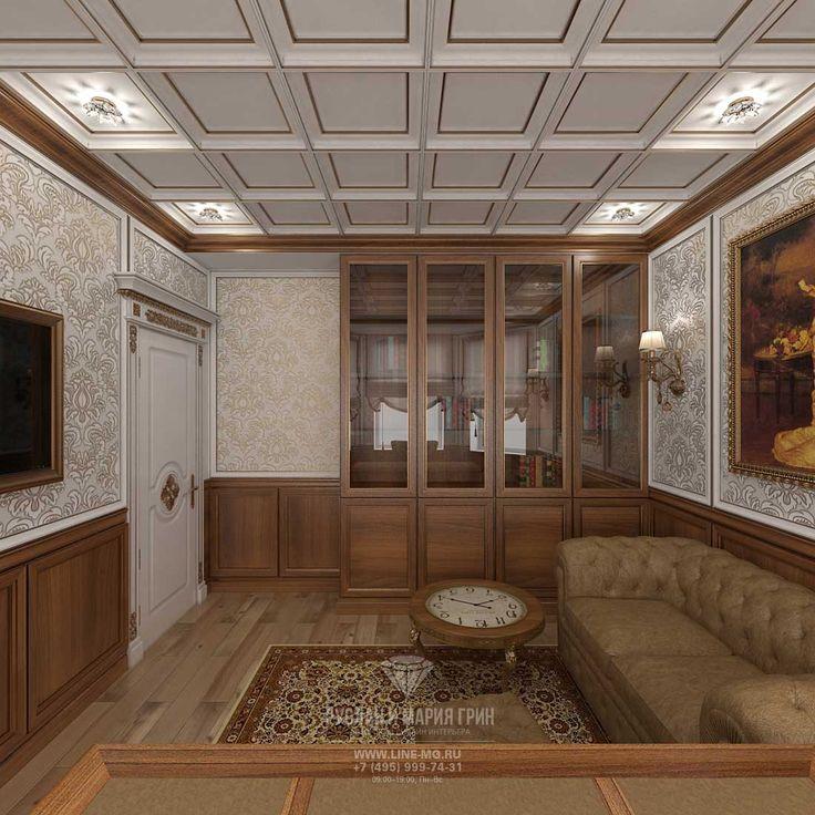 Дизайн кабинета в ЖК «Резиденция Рублево» http://www.line-mg.ru/dizayn-doma-rezidenciya-rublevo