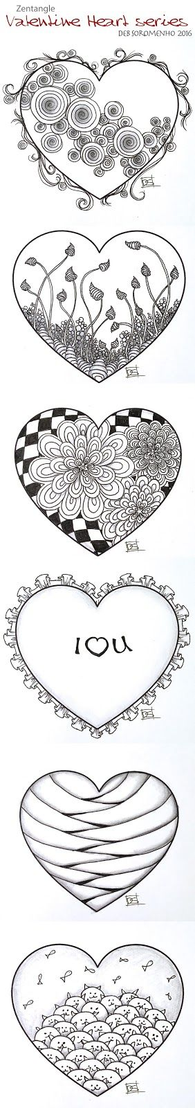 ❤⊰❁⊱ Mandala⊰❁⊱ Zentangle Valentine's Heart Series Designs 2016 | Always Choose the Window Seat