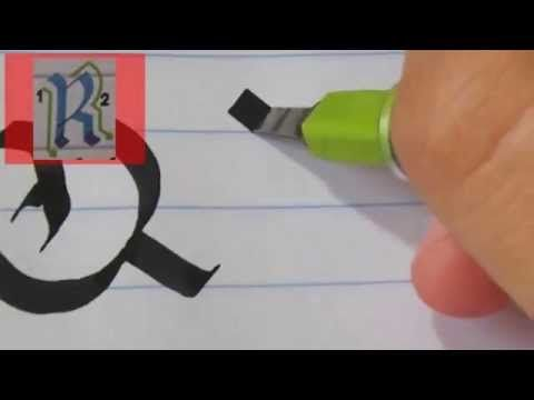How to Write a Lower Case Italic Alphabet - Calligraphy Tutorial from Joanne Fink - YouTube
