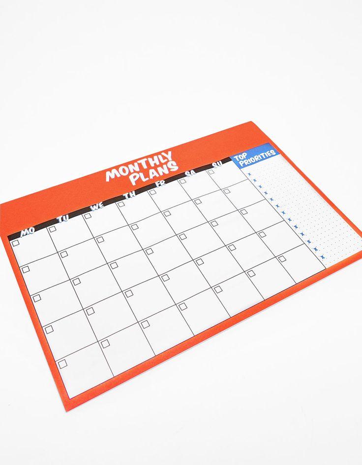 Μηνιαίο ημερολόγιο - ΑΞΕΣΟΥΆΡ - Bershka Greece