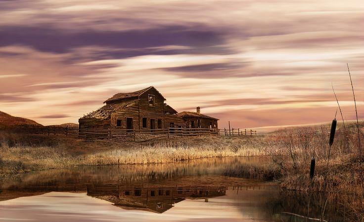Black Sage Dawn   ,,,,,Time stands still – Oliver, BC., Canada Haynes Ranch Barn at Black Sage Road and Road 22