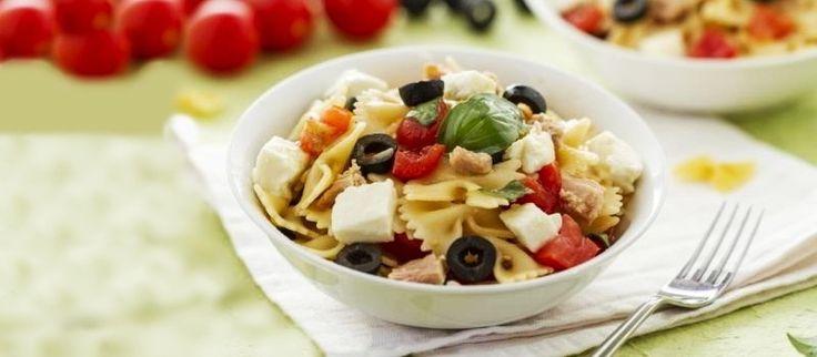 Receta de Ensalada de pasta con atún light, con atún - Recetas de ensaladas de pasta frías - Ensalada de pasta arguiñano fácil y rápida - Ingredientes