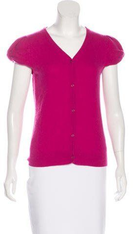 Kate Spade Cashmere Short Sleeve Cardigan