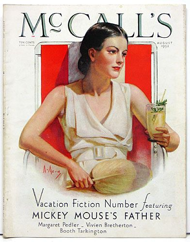 """Neysa McMein    Size: 11""""x14""""    Comments: Lovely McCall's Magazine cover by Neysa McMein. McMein was both a great illustrator and glamorous celebrity of the era. Lots of great photos, fashion artwork and ads    Price: $39"""