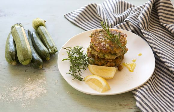 White Bean, Zucchini, Feta and Dill Fritters - Maggie Beer
