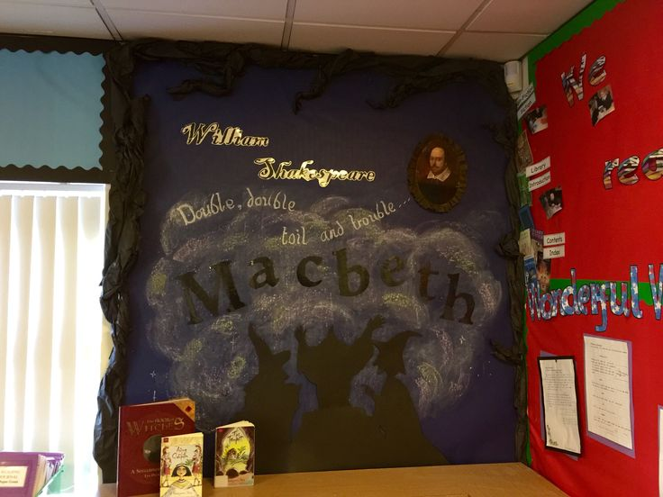 Shakespeare Macbeth classroom display