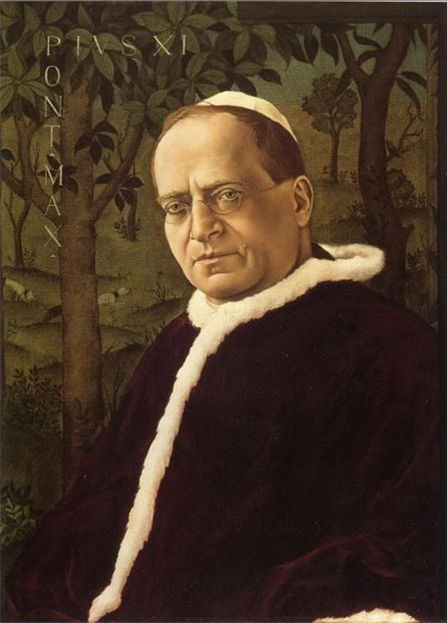 Portrait of Pope Pius XI, 1925 by Christian Schad (German, 1894-1982)
