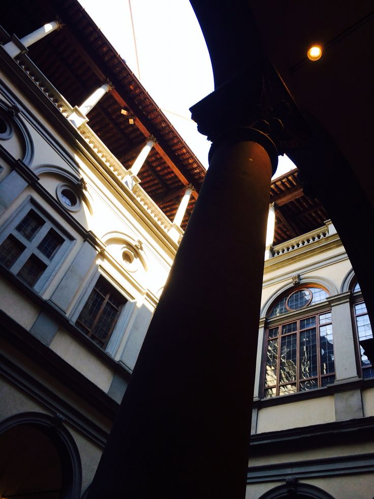 Inside Palazzo Strozzi, Florence Italy