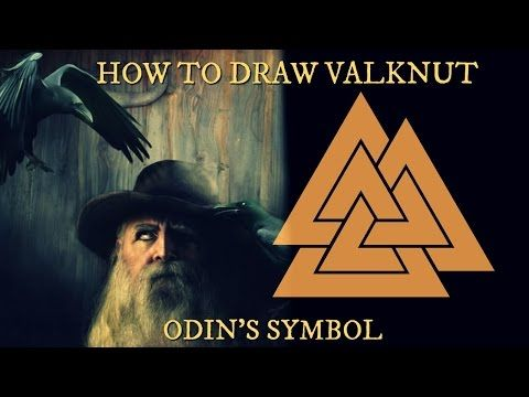 How to draw Valknut - Odin's symbol - Norse Viking knot - YouTube