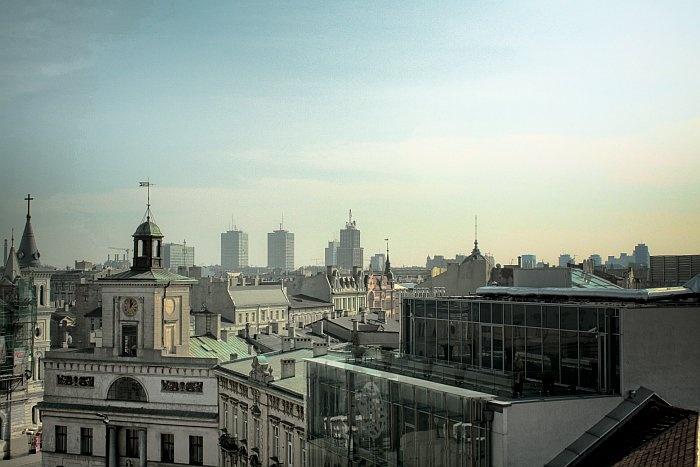Łódź from above the pl. Wolności