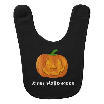 First Halloween Pumpkin bib - baby gifts giftidea diy unique cute