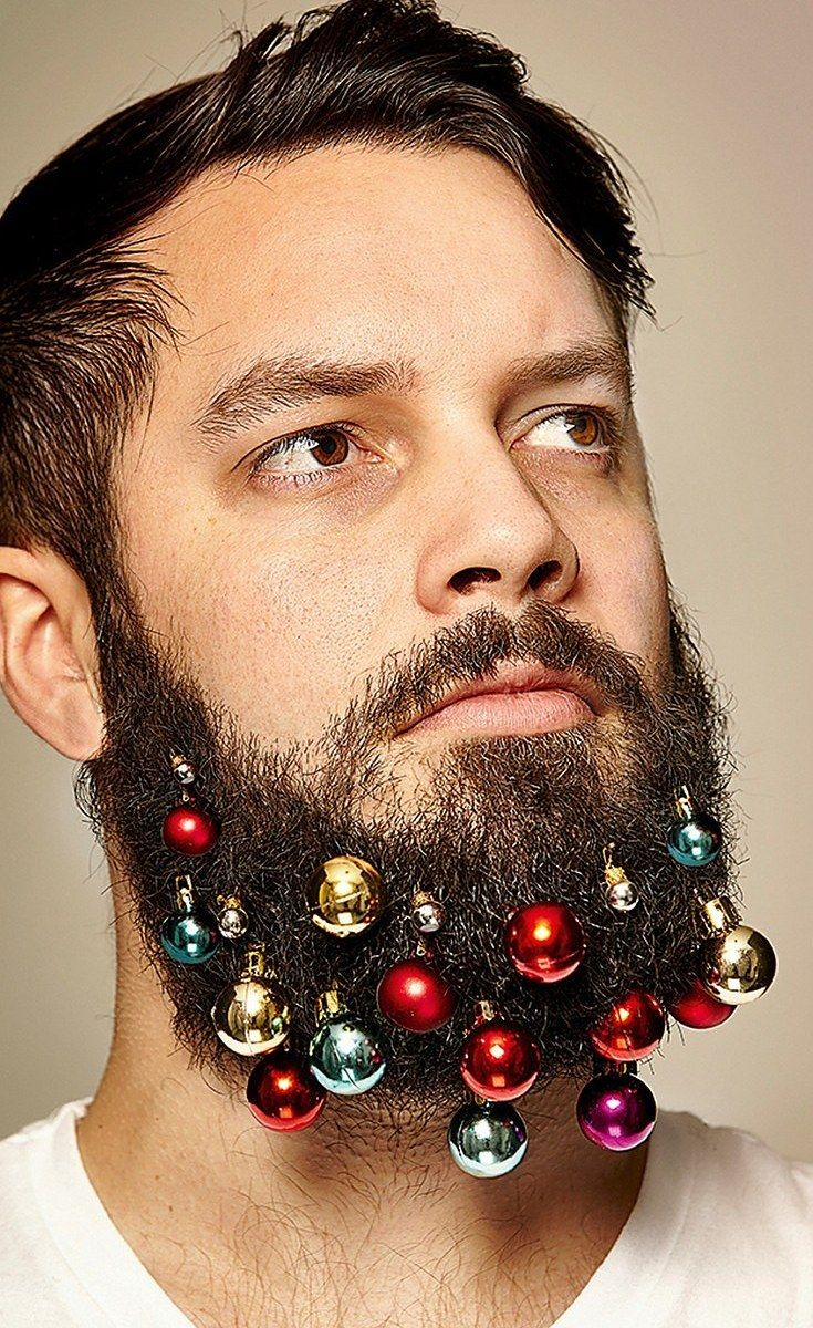 These Guys Created Beard Ornaments To Decorate Your Face For The Holidays... Oh Christmas Beard Oh Christmas Beard!