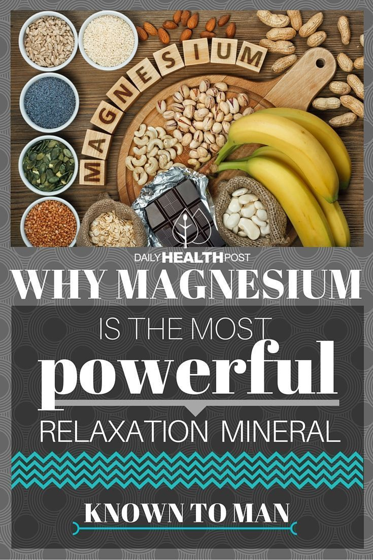Why Magnesium is the Most Powerful Relaxation Mineral Known to Man via /dailyhealthpost/