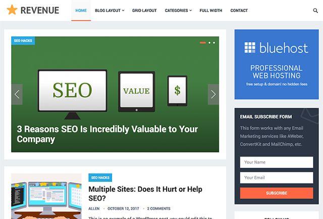 Download Revenue WordPress Theme - HappyThemes