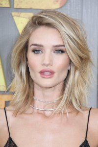 <center>Get a deep side parting cut in like Rosie Huntington-Whiteley. It will give your cut a fresh finish and stop ends looking blunt and bulky.