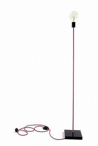 Lampy podłogowe w różowym kolorze kabli w oplocie | http://www.sklep.imindesign.pl/product/lampa-podlogowa-loft-design-kolorowe-kable-w-oplocie-magenta
