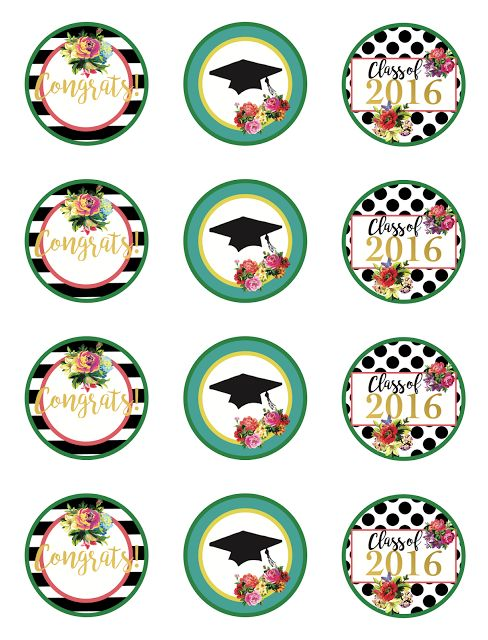 Less-Than-Perfect Life of Bliss: Free 2016 Graduation Party Printables for the Girly Girl