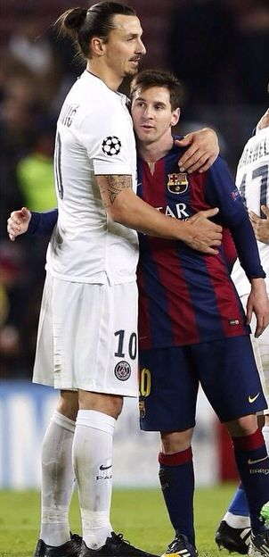 Ibra and Messi my 2 heros all in one pic