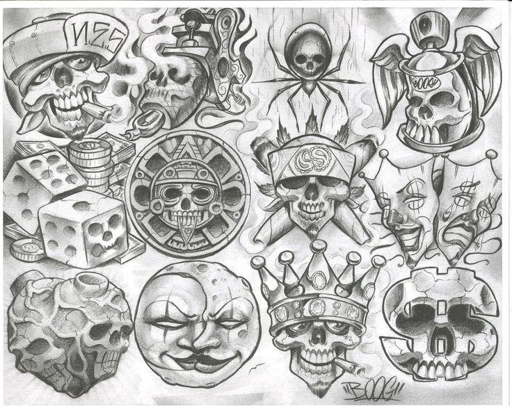 Tato Art Styles: Chicano Style Flashes - Dragon-Tattoo