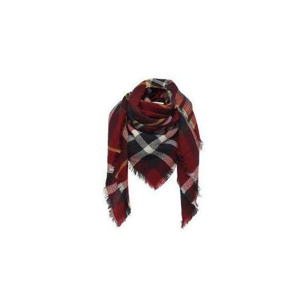 Yoins Check Wrap Scarf (670 INR) ❤ liked on Polyvore featuring accessories, scarves, yoins, black, wrap scarves and wrap shawl