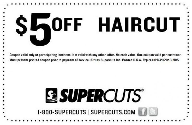 Haircut Coupons Supercuts