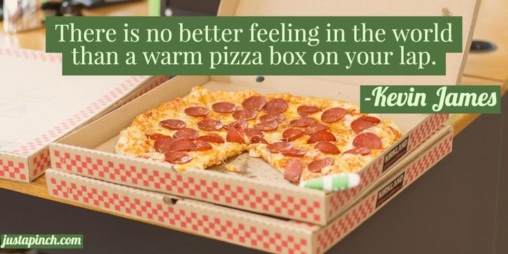 """""""There is no better feeling in the world than a warm pizza box on your lap."""""""