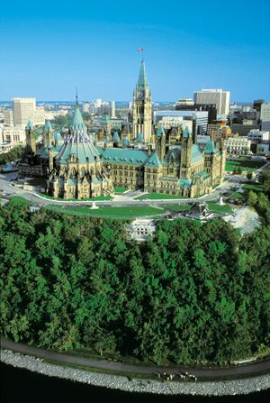 Ottawa, ON, Canada - Parliament buildings from air... Been here, loved it, want to go back to explore!