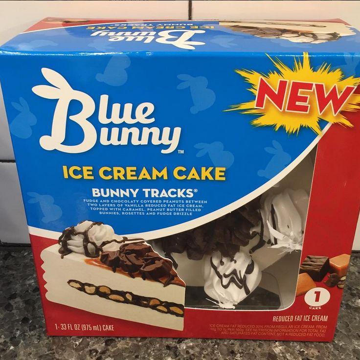 Blue Bunny Bunny Tracks  Ice Cream Cake