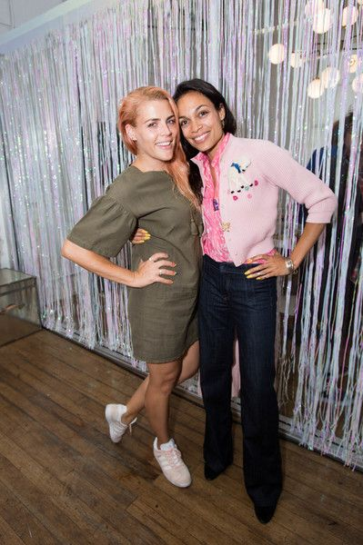 Actress Busy Philipps and actress Rosario Dawson attend as Super Deluxe and Sarah Ramos present a live reading of City Girl.