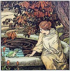 Walter Crane, illustration for The Frog Prince, 1901.