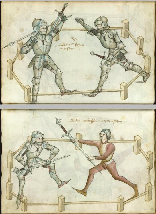 "Hans Thalhofer's ""Alte Armatur und Ringkunst"". Thott 290 2º. Paper, 150 ff.; 30 x 21 cm. Bavaria 1459. The Royal Library. National Library of Denmark and Copenhagen University Library."