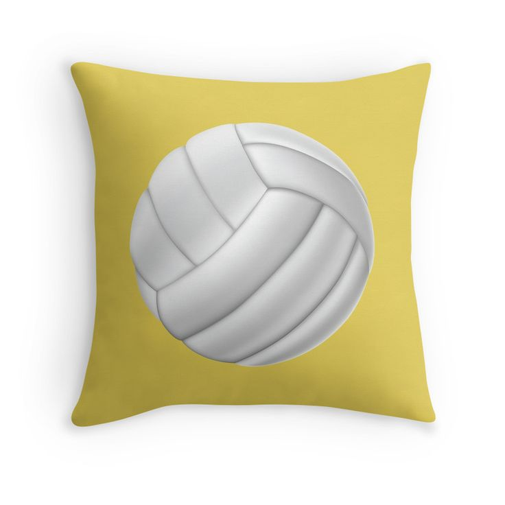 If you love Volleyball, yow will love this Volleyball throw pillow with beach color background.