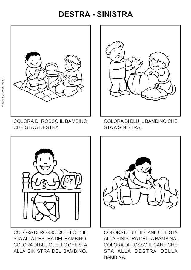 Schede Didattiche Per Bambini Autistici Scuola Dell Infanzia Con Insegnare La Destra E La Sinistra E Scheda10 640 Immagini Di Scuola Schede Didattiche Infanzia