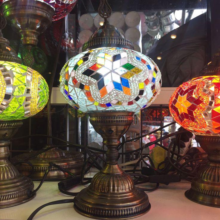 LARGE MOSAIC TABLE LAMP, WHITE