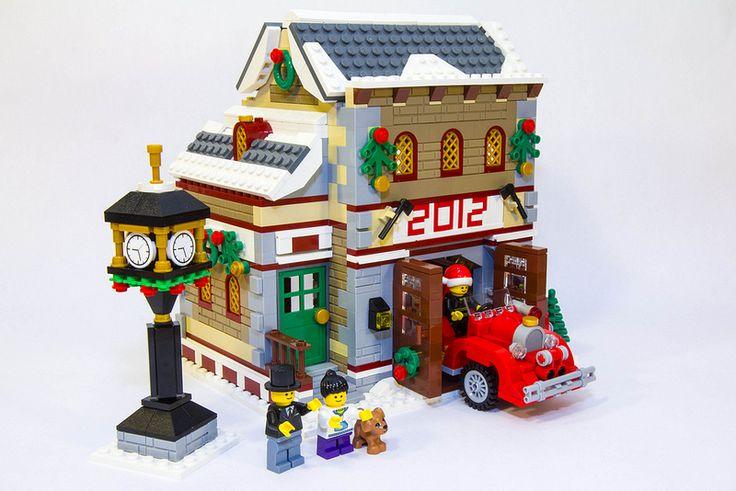 lego christmas village 2013   Winter Village Firehouse - LEGO Town - Eurobricks Forums
