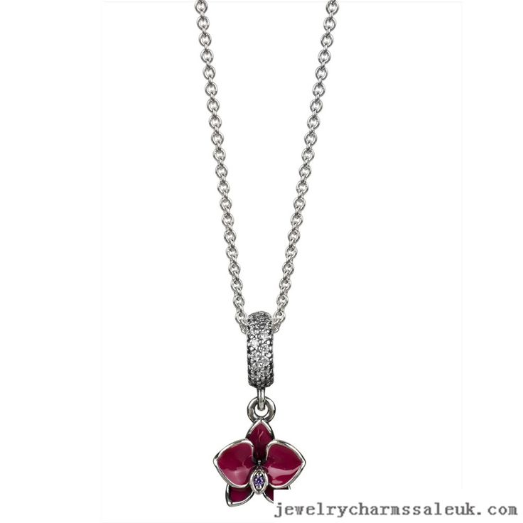 Pandora Silver Orchid Necklace 791095