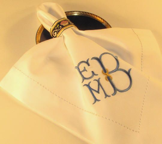 Superior Monogrammed Hemstitch Luxury Table Linens With Your Selection Of Monogram  And Custom Embroidery.