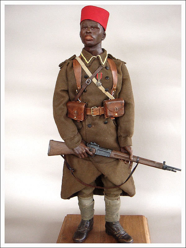 French colonial soldiers fought during the Battle of France in 1940. -
