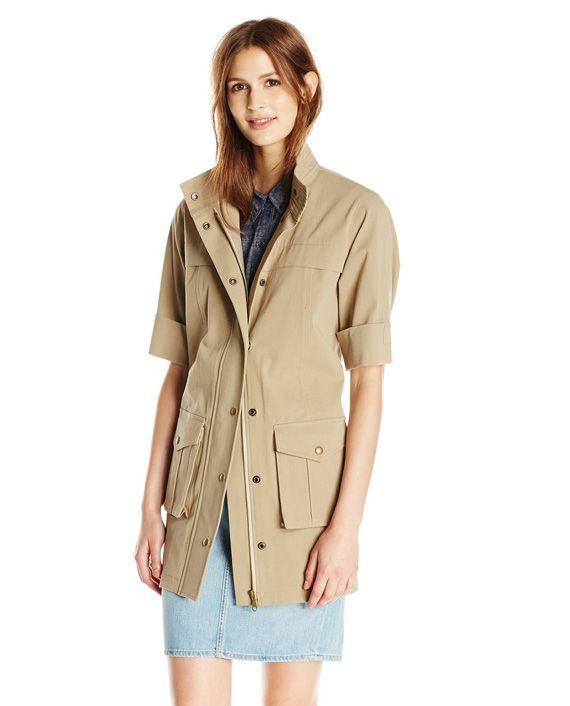 Rebecca Minkoff Women's Lorena Cotton Twill Trench Coat