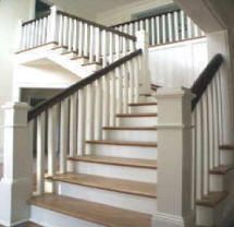 Square Balusters, Wide Newel Post