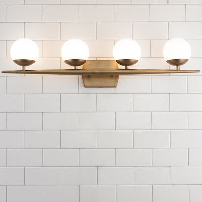 Linear Globe Bath Light - 4 Light