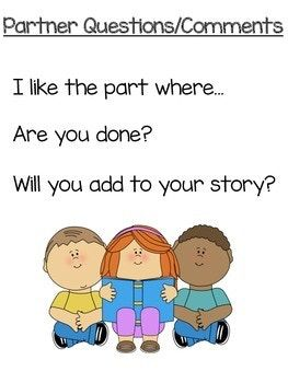 FREEBIE!! Lucy Calkins Writing: Partner Sharing Posters