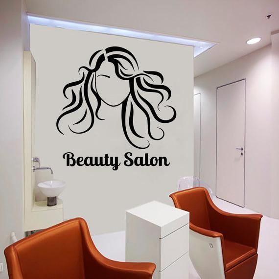 Beauty Salon Woman Face Hair Salon Style Nail Salon Wall Decal Window Sticker Design Handmade2097 Beauty B Wall Decals Space Wall Decals Girls Wall Stickers