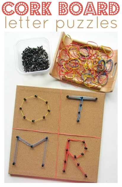 I could get everything I need in the stationary aisle !! Make letters with cork board, pushpins and rubber bands.